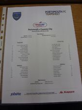 23/03/2013 Colour Teamsheet: Portsmouth v Coventry City  . Thanks for viewing ou