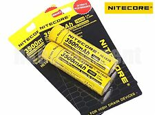 Nitecore 18650 3500 NL1835 3.6v Protected Rechargeable Battery x2 NL189