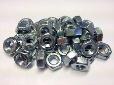 QTY 10 M7 FULL NUTS STEEL ZINC PLATED