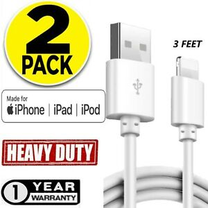2 Pack MFI Certified Lightning Cable Charging USB Cord for iPhone 8 SE X XR XS