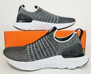 Nike React Phantom Run FK 2 Running Shoes Black White CJ0280-002 Women's Sz 9.5