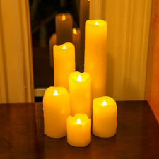 6 PCS Flameless LED Candle Night Light Wedding Xmas Decoration Battery Operated