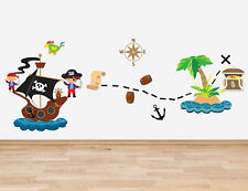 Pirate Theme Wall Art Sticker Decal Decor Boys Bedroom Vinyl Graphic Pirateship