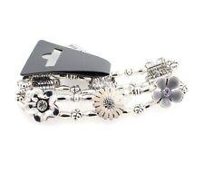 Pilgrim Daisy Flower Bracelet Flourish Silver Nude Pink & Grey Swarovski