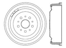 Brake Drum-C-TEK Standard Front,Rear Centric 123.61003