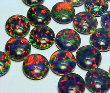 Gilson Lab Created Black Opal Triplet AAA++ Loose stone 7mm Round