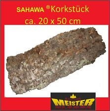 Sahawa® Korkstück, Korkrinde ca, 50 x 20 cm , Korkplatte Terrariendeko