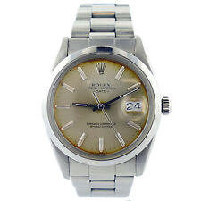 ROLEX 15000 OYSTER PERPETUAL DATE 1983 SILVER DIAL STAINLESS STEEL MIDSIZE