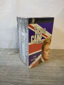NEW & SEALED Michael Caine Collection Alfie The Italian Job Zulu 3 x VHS Box Set