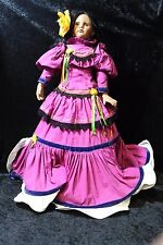 1988 Collectible Mexican Lady Porcelain Doll