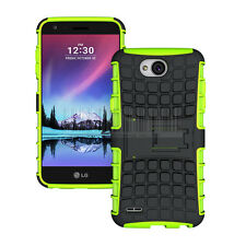 Shockproof Hybrid Rubber Hard Stand Phone Case Cover For LG X Power 2/Fiesta LTE