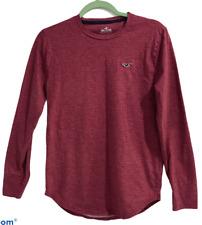 Hollister Men's Long Sleeve Shirt Dark Red -XS