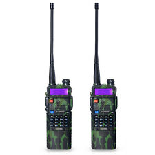 2 PCS BaoFeng UV-5R Dual UHF/VHF Radio Transceiver + 3800mah Battery Camouflage