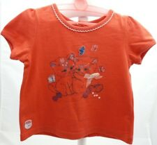 SERGENT MAJOR tee-shirt à manche courte orange chats bébé fille 9 mois