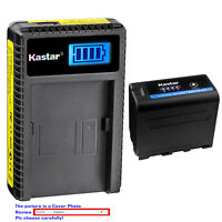 Kastar Battery LCD Charger for Sony NP-F970 PRO CCD-TR411 CCD-TR412 CCD-TR413