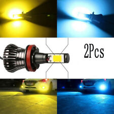 2x H11 LED Fog Lights H8 bulb 3000K Yellow 8000K Ice Blue Dual Colors H16 Hot