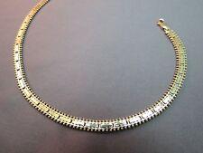 """14k Yellow Gold Bracelet 10.73g Marked 585 Chain 5mm Thick 9"""" Long Milgrain Edge"""