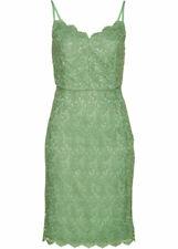 Spitzenkleid Gr 50 pastellgrün elegantes Trägerkleid Spitze Kleid Minikleid neu