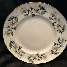 Crown Staffordshire Fine Bone China Luncheon Plate Apple Blossoms
