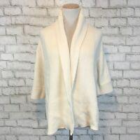 Gap Women's Cream Thick Open Front Cardigan Kimono Sweater Size Small