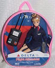"""Delta Airlines Blonde Flight Attendant Doll 11 1/2"""" Tall  Doll NEW"""