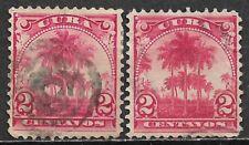 1899 1CUBA Set of 2 USED STAMPS (Scott # 228)