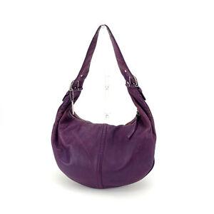 Coach Shoulder bag Purple Silver Woman Authentic Used K407