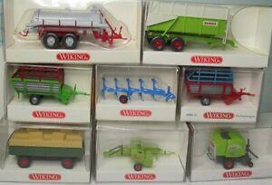 Wiking 1:87 Remorqueur Tracteur Et Remorque pour Agriculture Pour au Choix