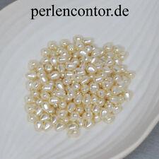 Renaissance-Perlen 60 Stück perlmutt 6 x 7 mm Preciosa Glaswachsperlen (AZ1314)