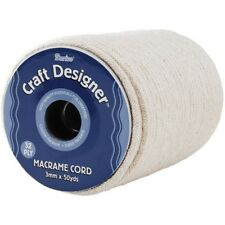 Darice 1971-15 Macrame Cord Natural Cotton 32-ply 3mmx50yd - 3mm 32 Ply