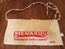 Menards Canvas Nail Apron Bag, Cash Change Flea Market Garage sale pouch NEW