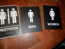 His/Hers Theirs Bathroom Signs, Good Condition