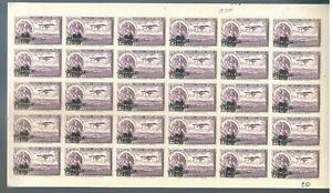 675 MEXICO Sc C50 Half Sheet (30 Stamps) 4 Margins MNH Aviation 1932 CV$150