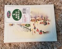 """Vintage Christmas Holiday Gift Boxes NEW Sealed Package of 4 NOS 8"""" x 11"""""""