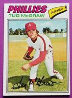 1977 Topps #164 Tug McGraw card, Philadelphia Phillies