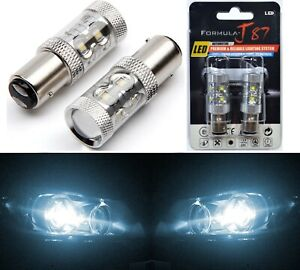 LED Light 50W 1157 White 6000K Two Bulbs Front Turn Signal Replacement Upgrade