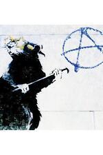 Anarchy Rat Banksy Poster 18x12 inch