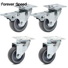 4x Transportrollen Lenkrollen mit Bremse Möbelrolle Schwerlastrollen 50mm