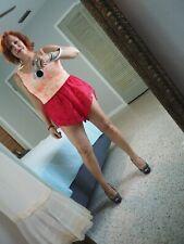 Sheer Red Nylon Tap Pants vintage undies collection Lace & Nylon PLUS size 3X