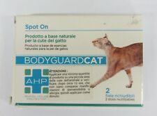 2 FIALE AHP SPOT ON BODYGUARD CAT CURA DELLA CUTE GATTO OLIO DI NEEM LENITIVO