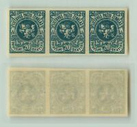 Lithuania 1919 SC 52 MNH imperf strip of 3 . e9216