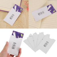 Protect Case Cover Blocking Bank Aluminium Anti Thief Paper Rfid Card Holder
