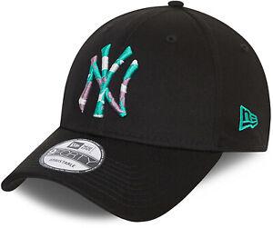 New York Yankees New Era 940 Colour Infill Black Baseball Cap