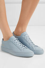 COMMON PROJECTS ORIGINAL ACHILLES LEATHER SNEAKERS WOMENS POWDER BLUE $440 37 7