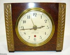 Vintage Seth Thomas Electric Alarm Clock Wood Case Made in USA