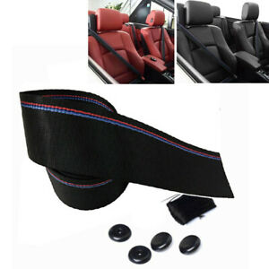 Tricolor 3.8M Harness Auto  Racing Safety Retractable Lap Seat Belt Fit For Car