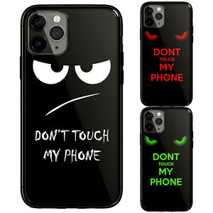 Don't Touch My Phone Fun Funny Phone Case for iphone 11 12 pro Max XS XR 6 7 8+