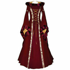 Women Halloween Costume Wench Victorian Renaissance Dress Witch Medieval Cosplay