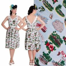 Rockabilly-Retro ärmellose Damenkleider