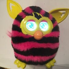HASBRO FURBY BOOM BLACK PINK ZEBRA 2012 TOY SENSOR & LCD EYES SOUNDS INTERACTIVE
